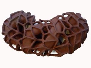 Potenza in divenire 2, 26x10x46cm, clay, 2013